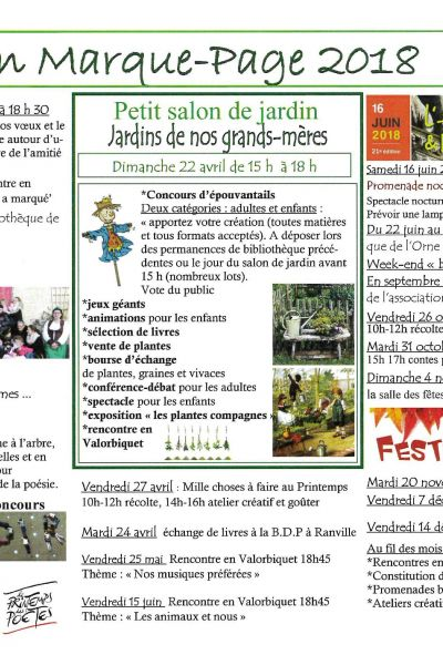 Manifestations 2018 - Association Marque-Page